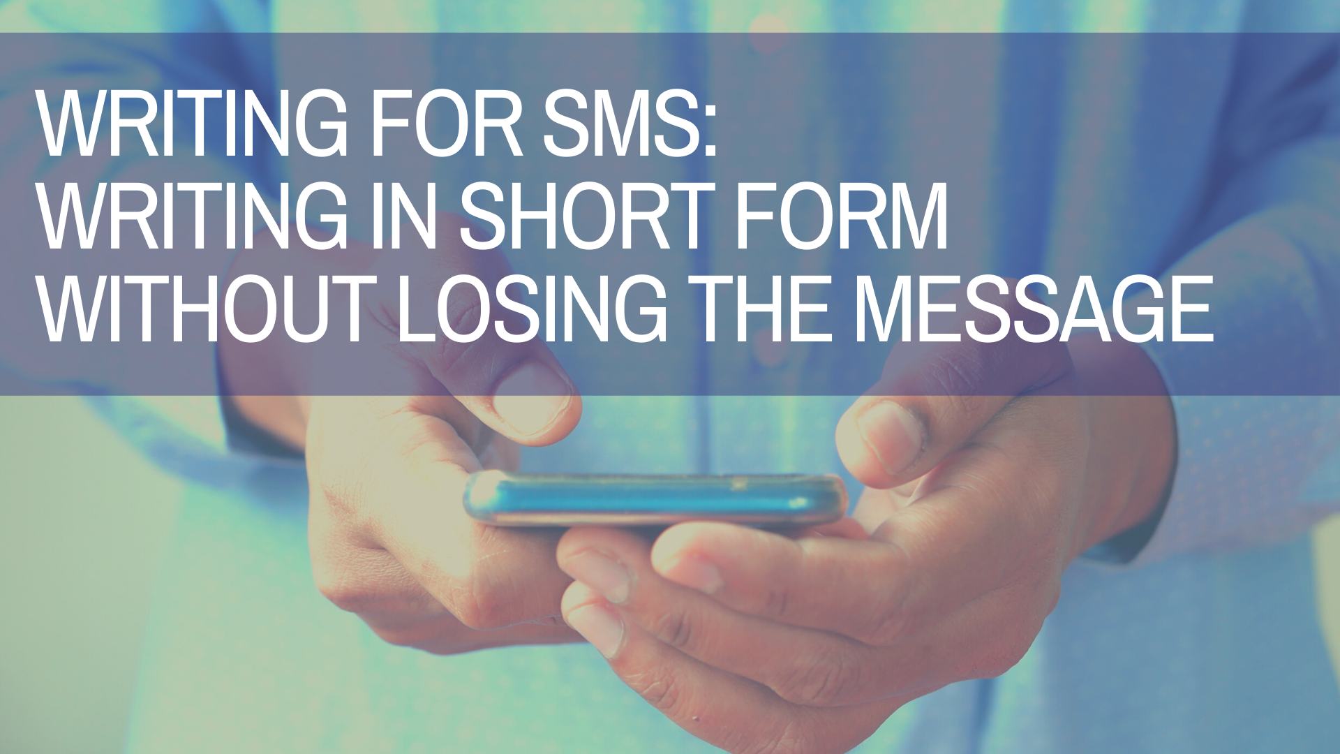 writing tips for SMS from a copywriting agency