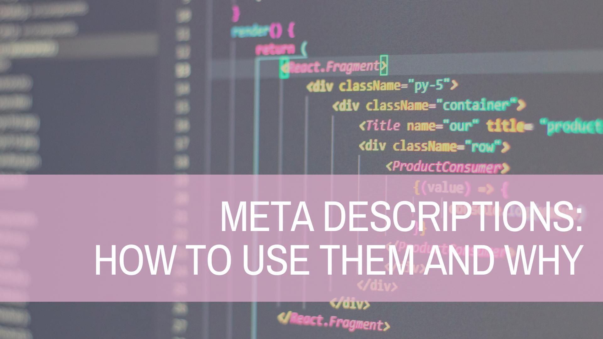 Are Meta Descriptions Important?